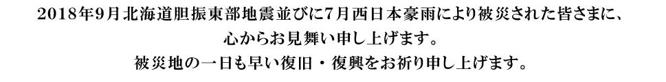 北海道胆振東部地震並びに西日本豪雨